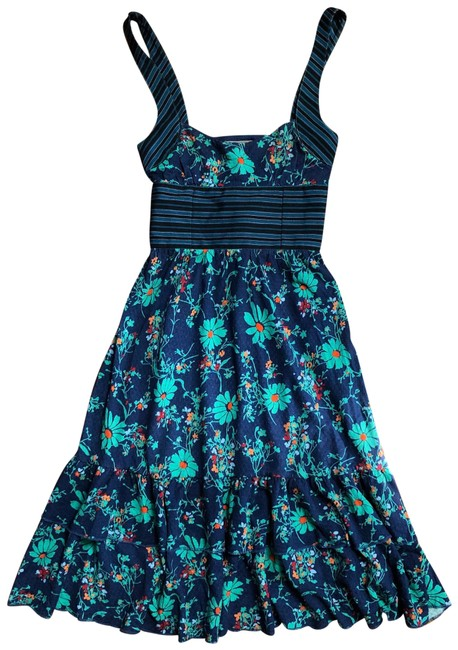 Item - Blue Day Mid-length Short Casual Dress Size 0 (XS)