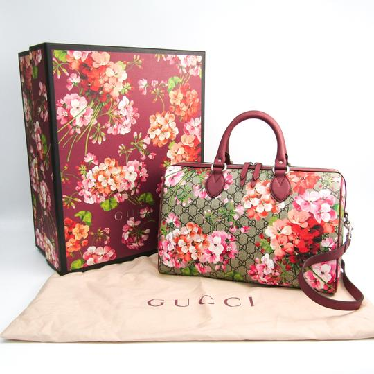 Gucci Satchel in Beige / Pink / Red Image 1