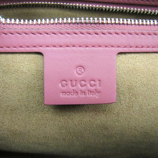 Gucci Satchel in Beige / Pink / Red Image 8