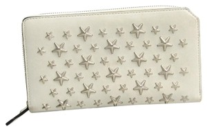 Jimmy Choo Jimmy Choo CARNABY Women's Calfskin Long Wallet (bi-fold) Light Gray