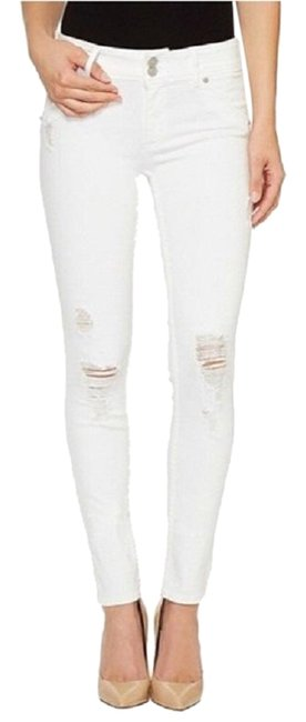 Item - White Distressed Collin Ankle Skinny Jeans Size 6 (S, 28)