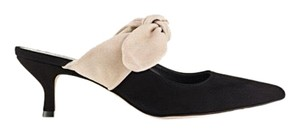 M.Gemi Black and Cream Mules