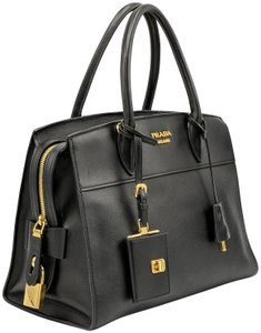 Prada Saffiano Leather Bibliotheque Paradigme Espanade Tote in Black