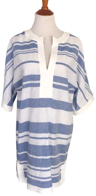 Item - Blue/White Beach Cover Up Tunic Size 6 (S)