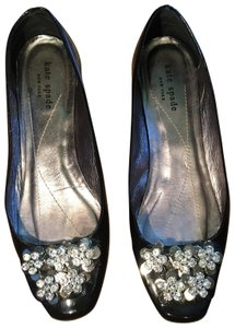 Kate Spade Black and Silver Flats