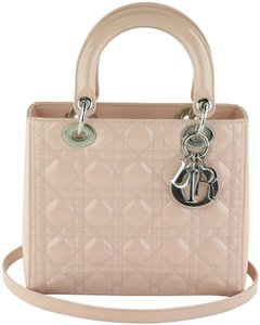 Dior Lady Lady Medium Lady Patent Lady Tote in Light Pink