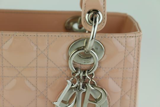 Dior Lady Lady Medium Lady Patent Lady Tote in Light Pink Image 10