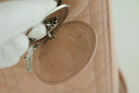 Dior Lady Lady Medium Lady Patent Lady Tote in Light Pink Image 11