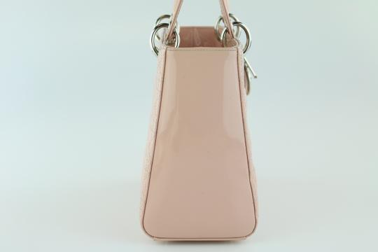 Dior Lady Lady Medium Lady Patent Lady Tote in Light Pink Image 2