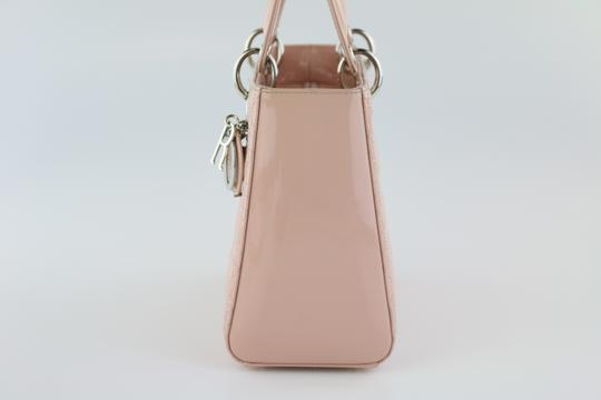 Dior Lady Lady Medium Lady Patent Lady Tote in Light Pink Image 3