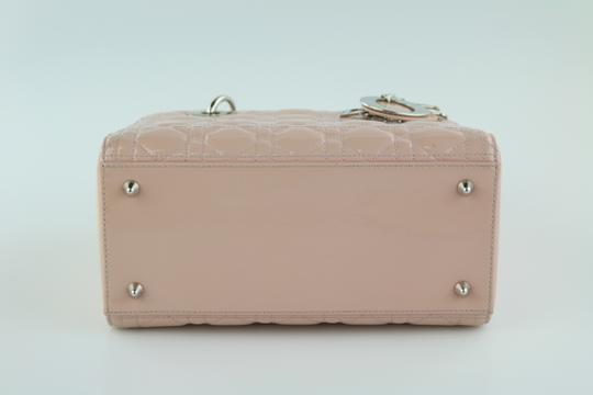 Dior Lady Lady Medium Lady Patent Lady Tote in Light Pink Image 4