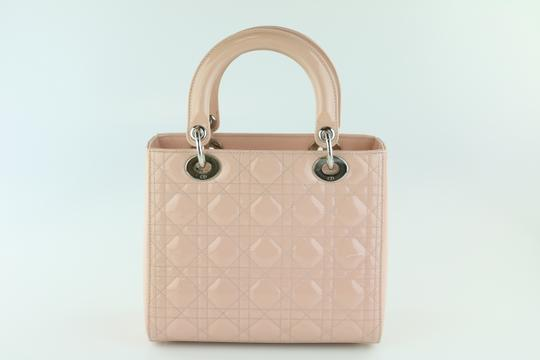 Dior Lady Lady Medium Lady Patent Lady Tote in Light Pink Image 5