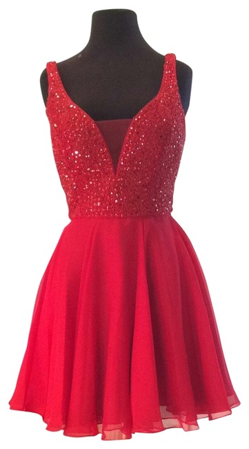 Item - Red 51294 Short Cocktail Dress Size 6 (S)