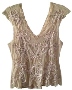 Hunza Peach Summer Lace Elegant Paris Top Pastel Vintage Pink