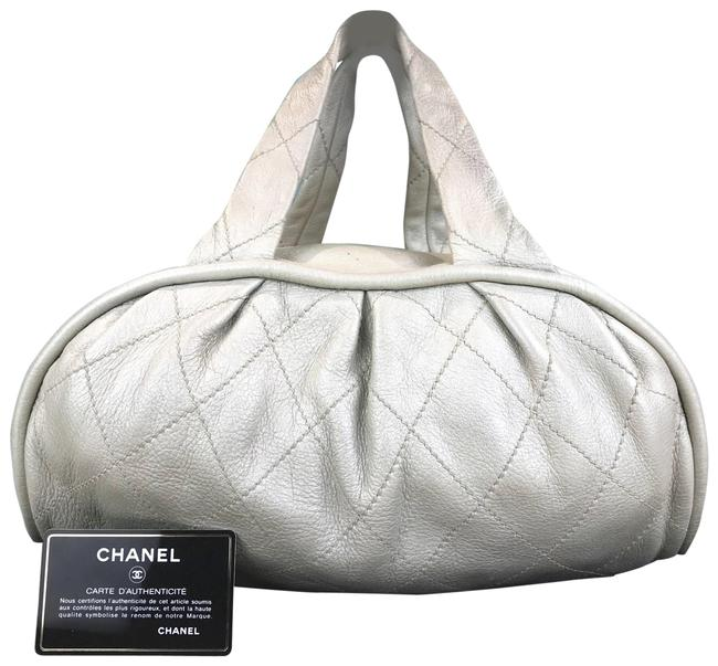 Item - Pearl Diamond Quilted Cc Sale White Leather Satchel