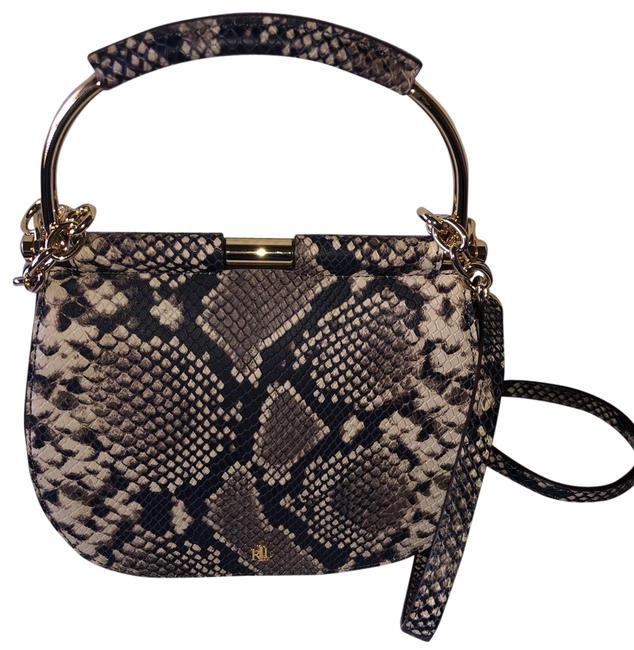 Item - Embossed Snakeskin Leather Cross Body Bag