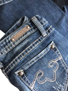 Express Boot Cut Jeans-Distressed