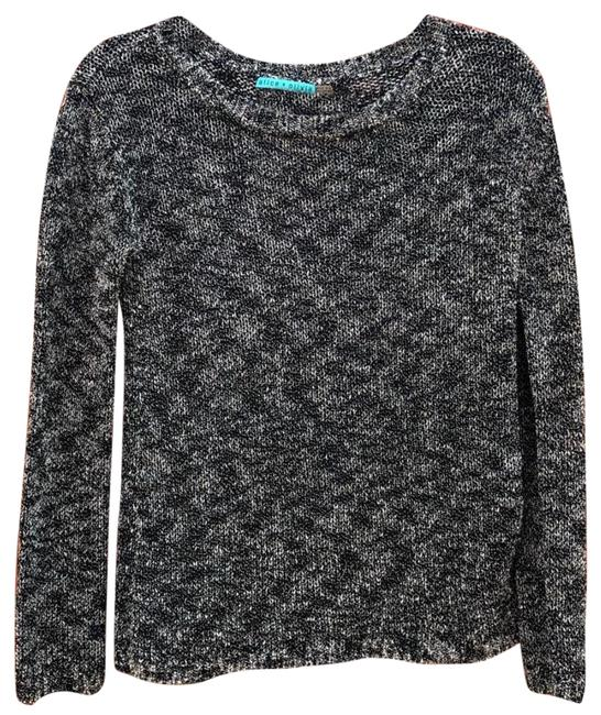 Item - Crew Neck Black and Silver Sweater