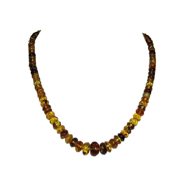 Item - Multi Color Antique Mexican Chiapas Amber Cylinder Bead Necklace