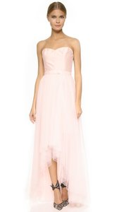 Monique Lhuillier Blush Tulle Removable Skirt Feminine Bridesmaid/Mob Dress Size 12 (L)