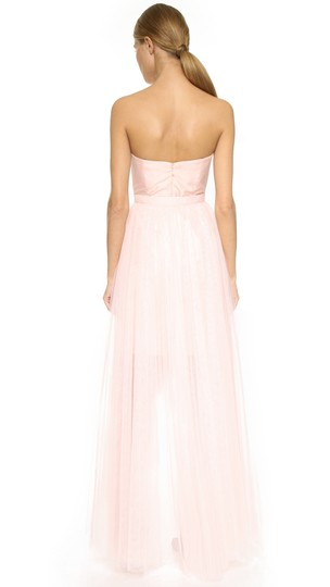 Monique Lhuillier Blush Tulle Removable Skirt Feminine Bridesmaid/Mob Dress Size 12 (L) Image 1