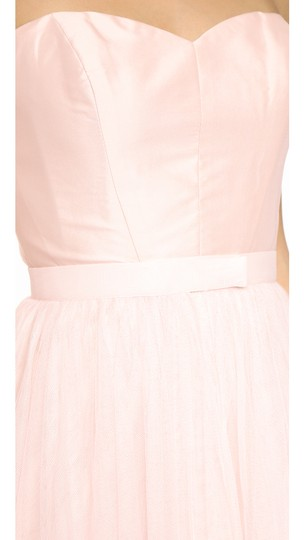 Monique Lhuillier Blush Tulle Removable Skirt Feminine Bridesmaid/Mob Dress Size 12 (L) Image 2