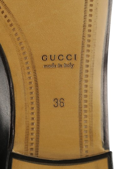 Gucci Leather Gold Hardware Black Flats Image 10