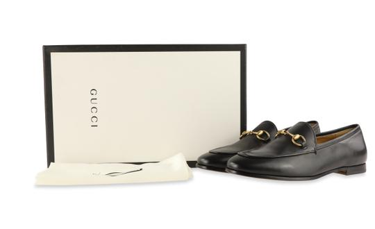 Gucci Leather Gold Hardware Black Flats Image 11