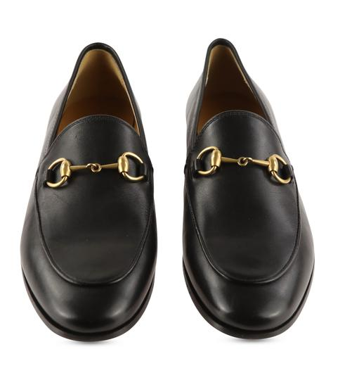 Gucci Leather Gold Hardware Black Flats Image 2