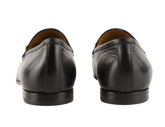 Gucci Leather Gold Hardware Black Flats Image 3