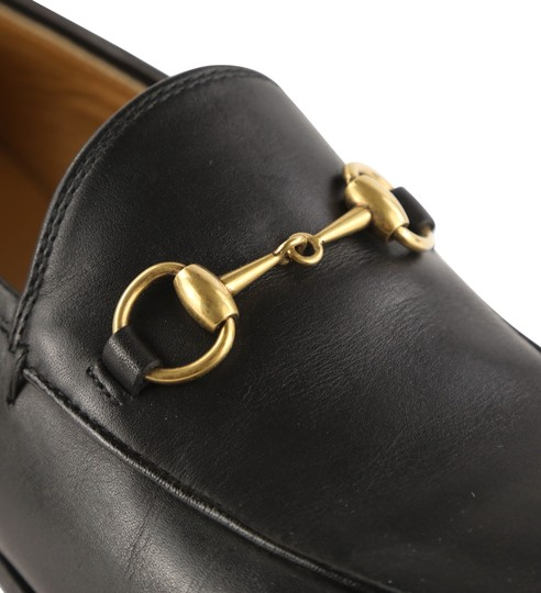 Gucci Leather Gold Hardware Black Flats Image 7