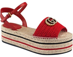 9e7d2cb59a8 Women's Red Gucci Shoes Wedge