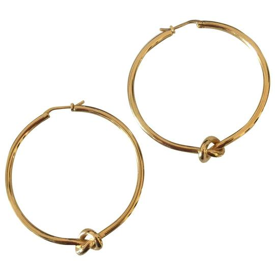 7eff4d9ad4ad2 Céline Gold Phoebe Philo Dot Small Hoops In Brass with Finish Earrings