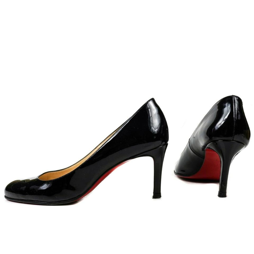 698490bd2a9 Christian Louboutin Black Patent Leather Round Toe Small Heels Pumps Size  EU 36.5 (Approx. US 6.5) Regular (M, B) 50% off retail