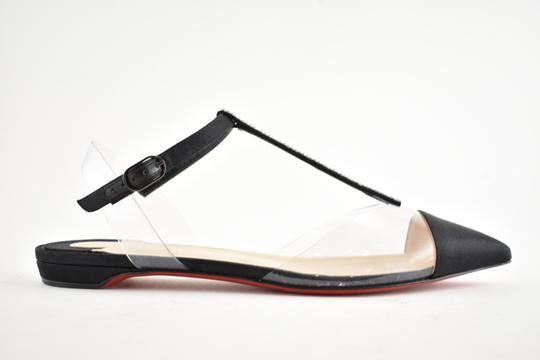 Christian Louboutin Nosy Spike Ankle Strap Ballerina black Flats Image 1