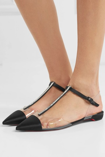 Christian Louboutin Nosy Spike Ankle Strap Ballerina black Flats Image 2