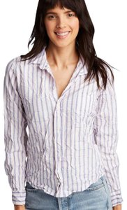 Frank & Eileen Classic Preppy Casual Polished Button Down Shirt Blue and Pink Stripe