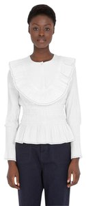 Trademark Victoria Beckham The Row Isabel Marant Burberry Reformation Top ivory