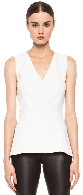 Item - Ivory V Neck Sleeveless Shell In Blouse Size 2 (XS)