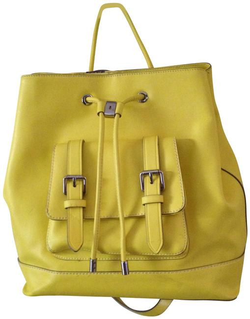 Item - Tilly Yellow Leather Backpack