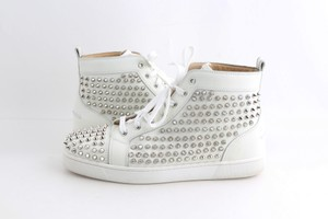 Christian Louboutin White Louis Spike Shoes
