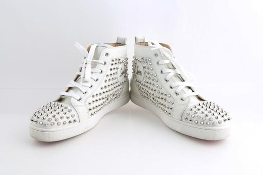 Christian Louboutin White Louis Spike Shoes Image 1