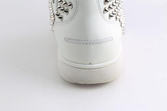 Christian Louboutin White Louis Spike Shoes Image 10