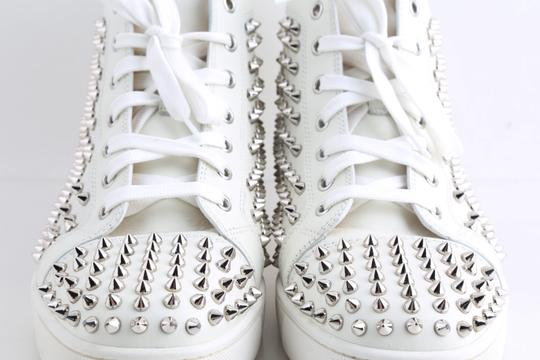 Christian Louboutin White Louis Spike Shoes Image 11