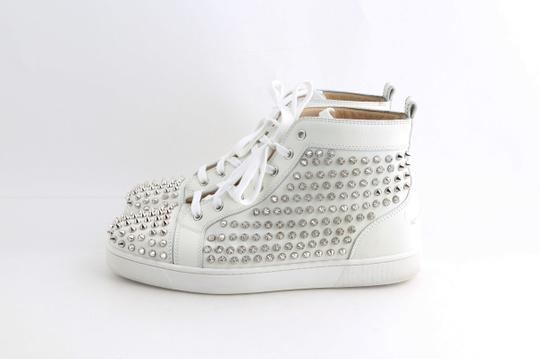 Christian Louboutin White Louis Spike Shoes Image 3