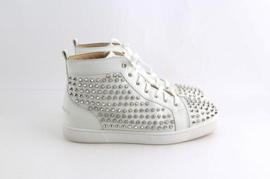 Christian Louboutin White Louis Spike Shoes Image 4