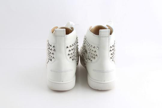 Christian Louboutin White Louis Spike Shoes Image 5