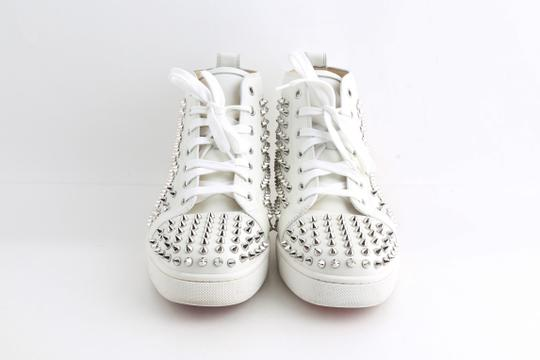 Christian Louboutin White Louis Spike Shoes Image 6
