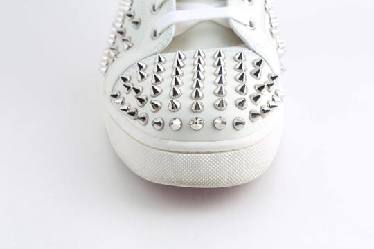 Christian Louboutin White Louis Spike Shoes Image 7