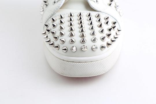 Christian Louboutin White Louis Spike Shoes Image 8